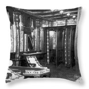 Titanic: Turkish Bath, 1912 Throw Pillow