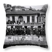 Titanic - White Star Wharf, Queenstown. Throw Pillow