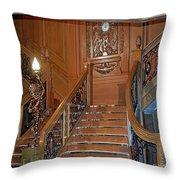 Titanics Grand Staircase Throw Pillow