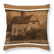 Title A Cottage Throw Pillow