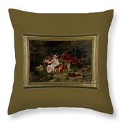 Title Flowers And Fruit Throw Pillow