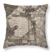 Title Plate Throw Pillow