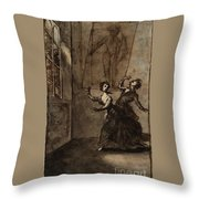 Title The Ghost Scene Throw Pillow