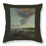 Title The Thames Below Woolwich Throw Pillow