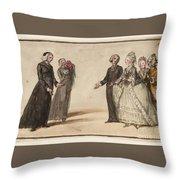 Title Three Clergymen  Throw Pillow