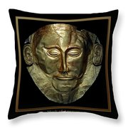 Titled Mask Of Agamemnon Throw Pillow