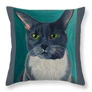 Titter, Cat Portrait Throw Pillow