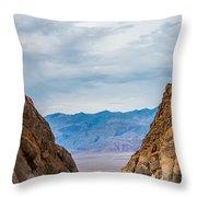 Titus Canyon Throw Pillow