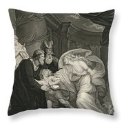Titus's Garden. Lucius Pursued By Lavinia Throw Pillow