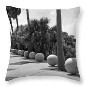 Titusville On The Indian River Lagoon In Florida Throw Pillow