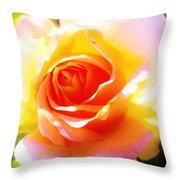 Tjs Rose A Glow Throw Pillow