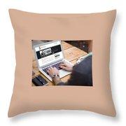 Tkt Cast Cms Website Design Throw Pillow