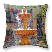 Tlaquepaque Fountain In Sunlight Throw Pillow