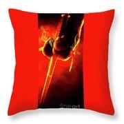 Tmnt 1   -  Raphael Smoky Red. Throw Pillow