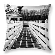 To A Quiet Place Throw Pillow