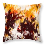 To Be With You Abstract Throw Pillow