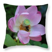 To Bee A Flower Throw Pillow