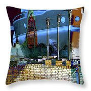 To Big For This Harbor Throw Pillow