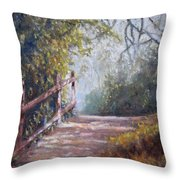 To Bog Meadow Throw Pillow