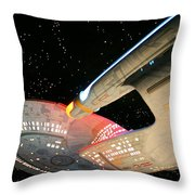 To Boldly Go Throw Pillow by Kristin Elmquist