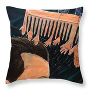 To Comb The Social Reactions Throw Pillow
