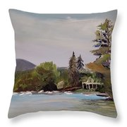To Mt. Shaw Throw Pillow