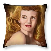 To Rita Hayworth Throw Pillow