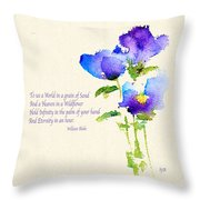 To See The World In A Grain Of Sand Throw Pillow