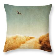To The Beach Throw Pillow by Wim Lanclus