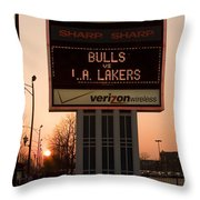 To The Bulls Game Throw Pillow