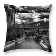 To The East Flows The Water Throw Pillow