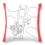 To The Heaven. Throw Pillow