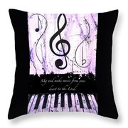 To The Lord - Purple Throw Pillow