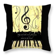 To The Lord - Yellow Throw Pillow
