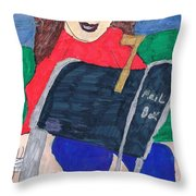 To The Mailbox Throw Pillow