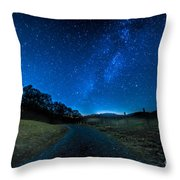 To The Milky Way Throw Pillow