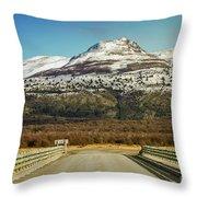 To The Mountain Throw Pillow