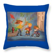 To The Park Throw Pillow