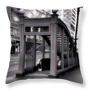 To The Subway - 2 Throw Pillow