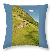 To The Top Of Arthur's Seat. Throw Pillow