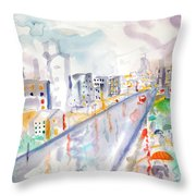 To The Wet City Throw Pillow