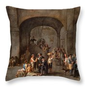 To Visit The Imprisoned  Throw Pillow