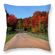 To Where Does The Road Lead Throw Pillow