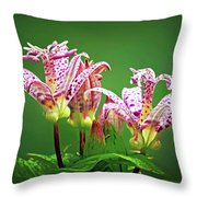 Toad Lilies Throw Pillow