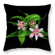 Toad Lily Throw Pillow