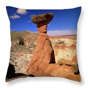 Toadstool Caprocks Utah Throw Pillow