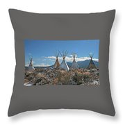 Tee Pees, Taos New Mexico Throw Pillow