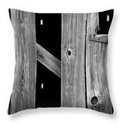 Tobacco Barn Wood Detail Throw Pillow