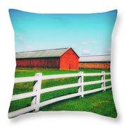 Tobacco Barns Throw Pillow