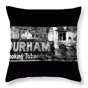 Tobacco Days Throw Pillow